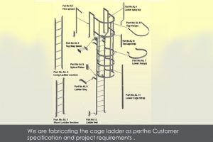 Steel Ladder with cage & without cage.